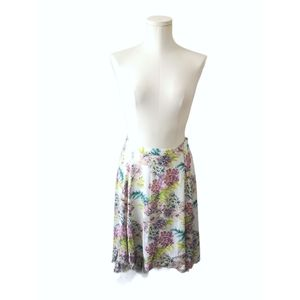 Kimchi Blue floral high low swing skirt